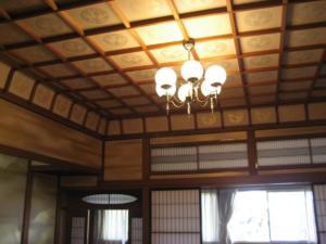 貴賓室雲井の間天井