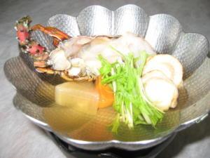伊勢海老と帆立の鍋